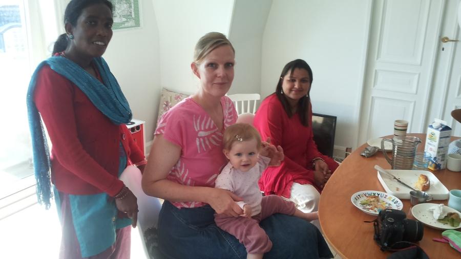 Musahar besøg hos Karen Bagge
