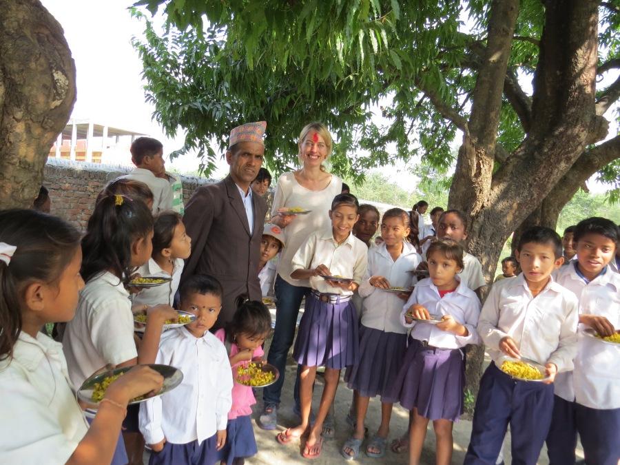 Undertegnede sammen med rektor Dinanath Aryal