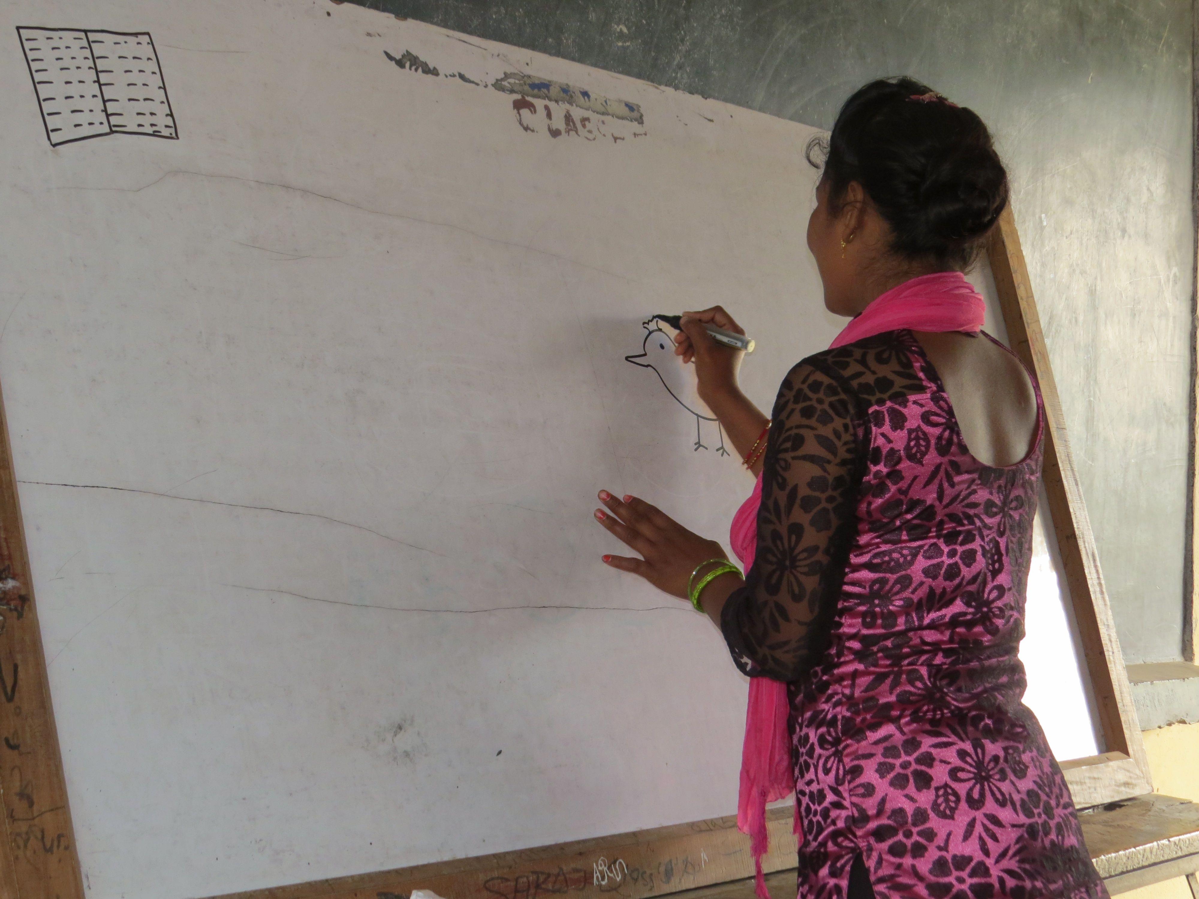 evaluering deltager tegner
